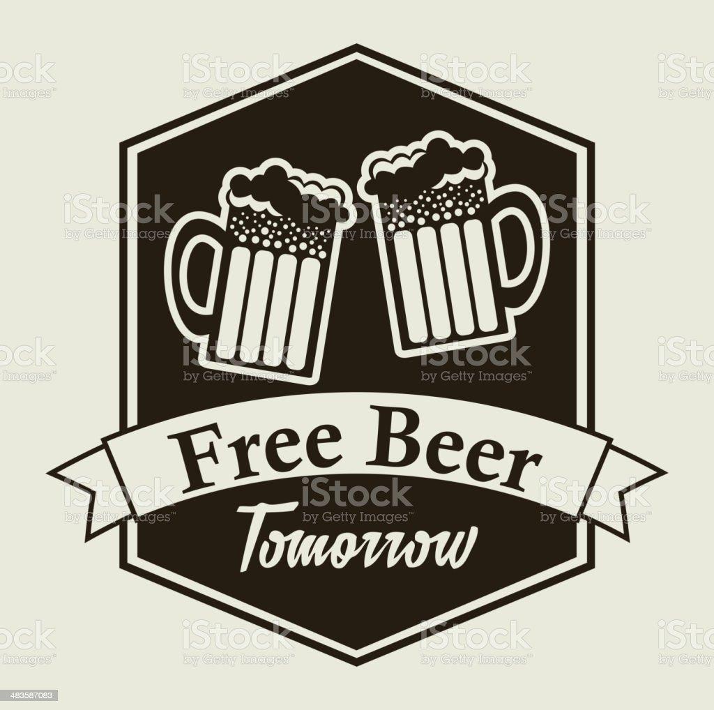 free beer royalty-free stock vector art