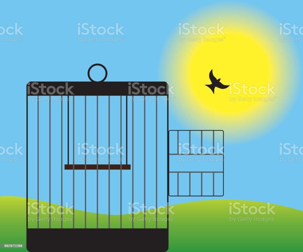 Free Bird vector art illustration