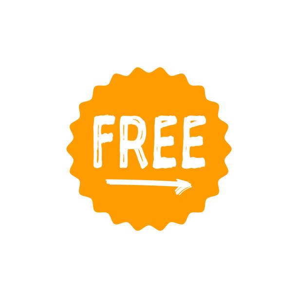 illustrations, cliparts, dessins animés et icônes de icône étoile circulaire gratuit isolé des éléments de conception logo autocollant insigne - liberté