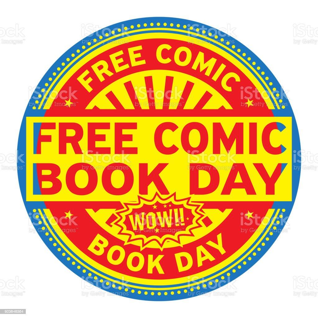 無料コミック本の日スタンプ - お祝いのベクターアート素材や画像を多数