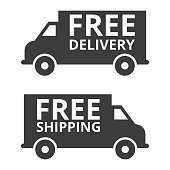 Free delivery and free shipping truck.