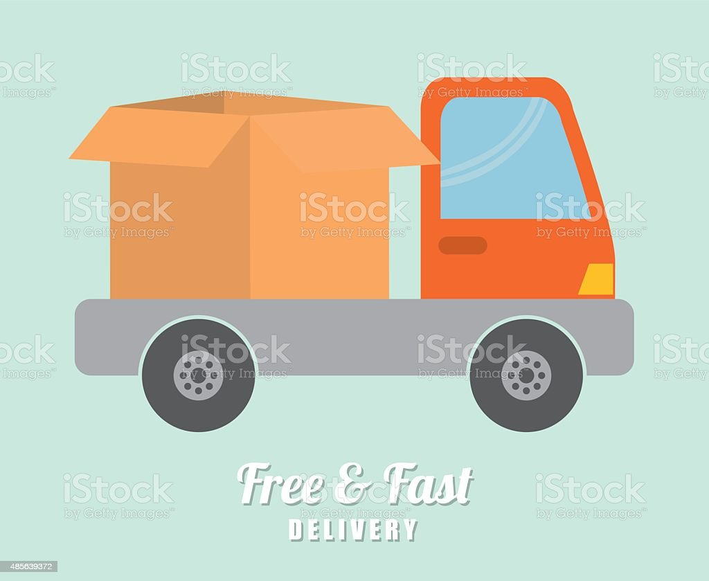 94cb7dde8f5d6d Free delivery design. royalty-free free delivery design stock vector art  & more