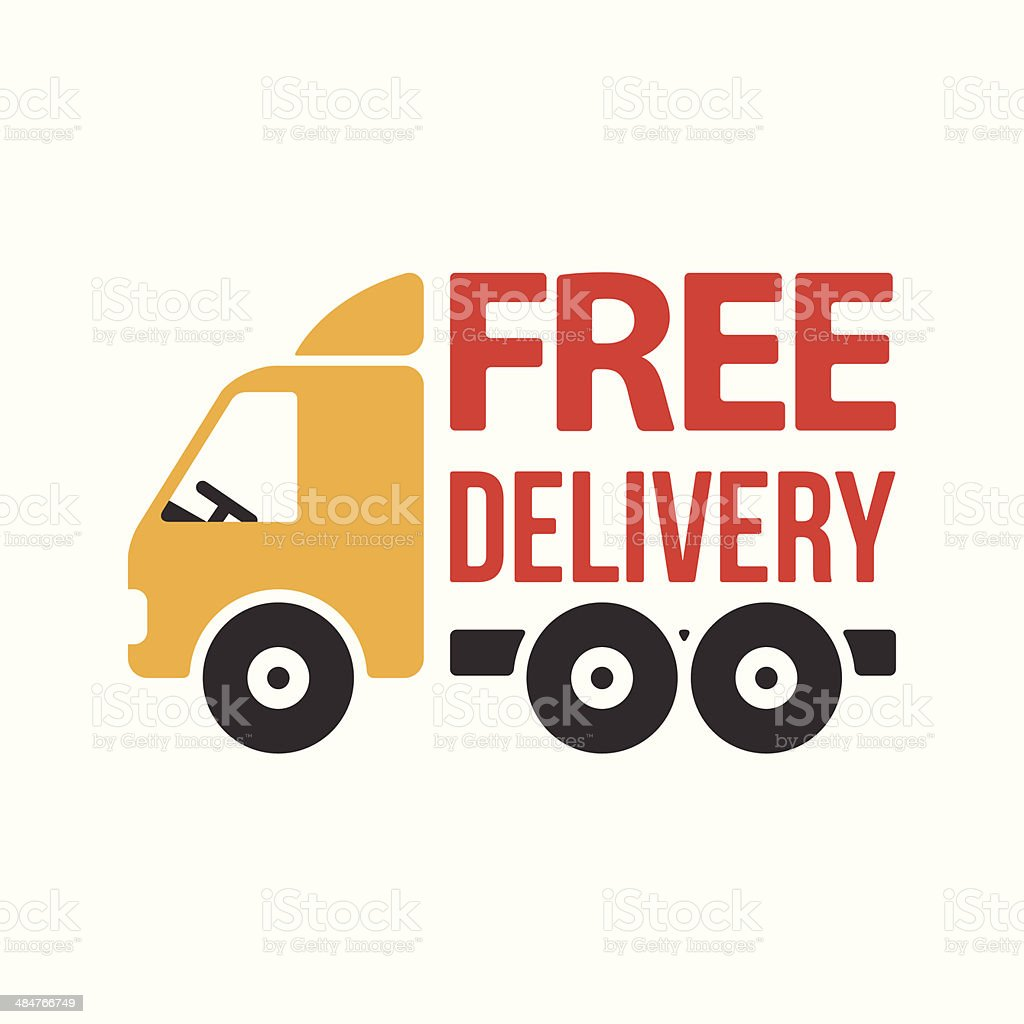 Free Delivery Icon. Flat Style. Vector royalty-free stock vector art