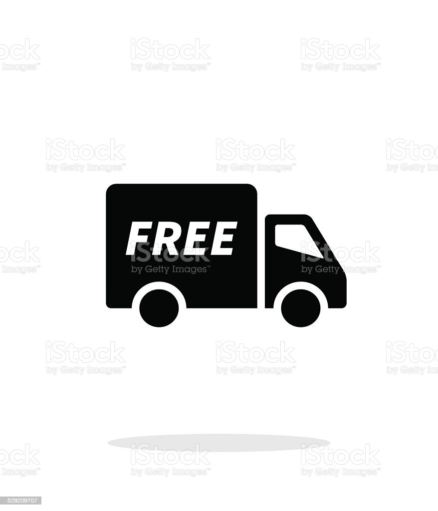 Free delivery icon on white background. vector art illustration