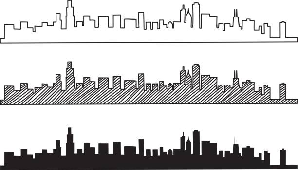 Free hand sketch of Chicago skyline. Free hand sketch of Chicago skyline. Vector illustration eps 10. chicago stock illustrations