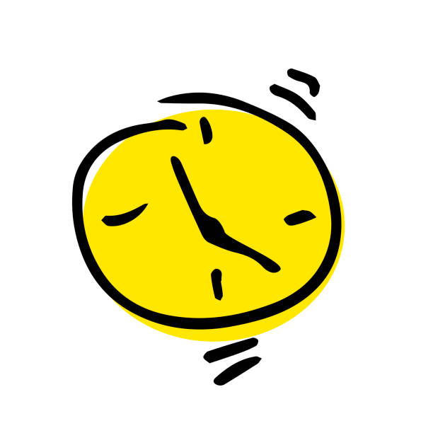 Cute Alarm Clock Illustrations, Royalty-Free Vector ...