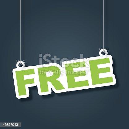 istock Free hanging label 498570431