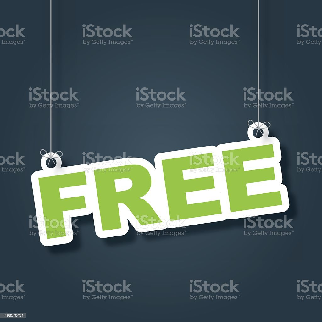 Free hanging label vector art illustration