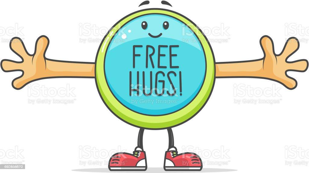 Free Hugs vector art illustration