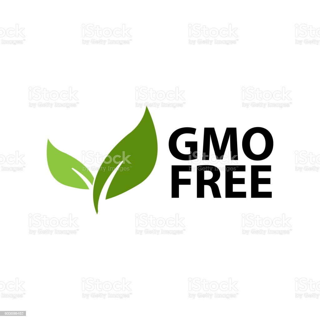 GMO free, icon illustration. vector art illustration