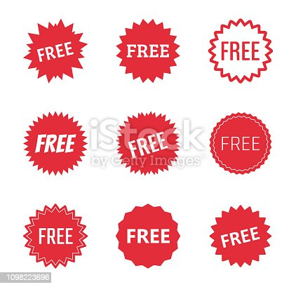 free icon set, free labels and stickers
