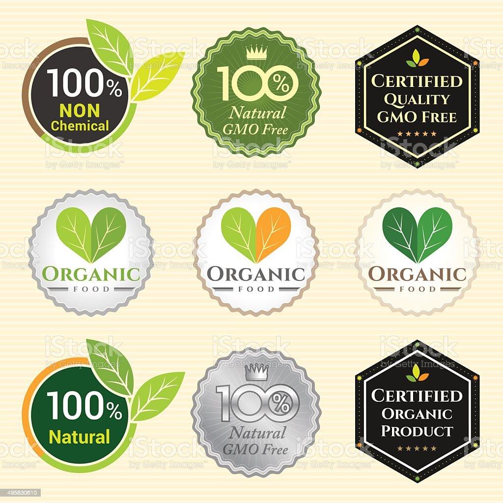 Gmo free non gmo and organic guarantee tag label emblem stock vector gmo free non gmo and organic guarantee tag label emblem royalty free gmo free non buycottarizona Images