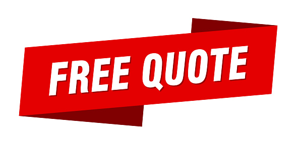 free quote banner template. ribbon label sticker. sign