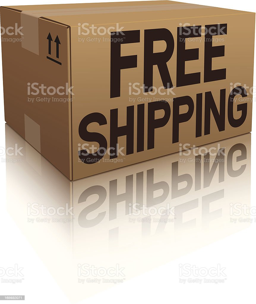 Free Shipping Box Icon royalty-free stock vector art