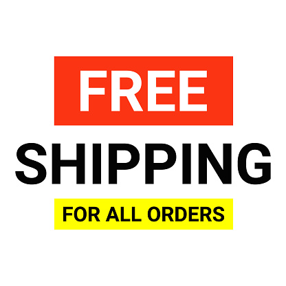 Free shipping delivery offer banner.