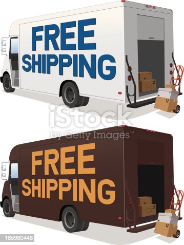Vector illustration of a delivery truck with