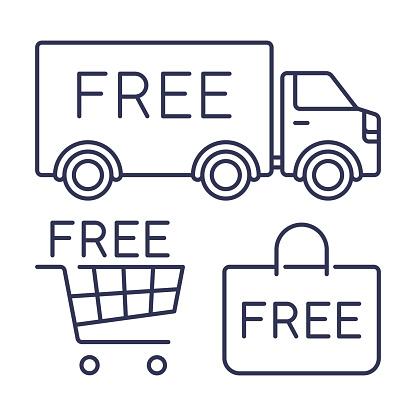 Free Shipping Shopping Icons and Symbols