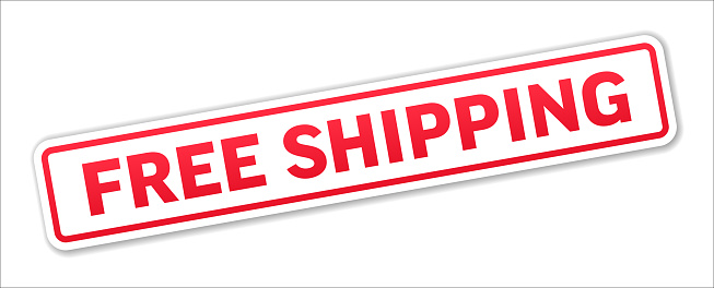 Free Shipping - Stamp, Banner, Label, Button Template. Vector Stock Illustration