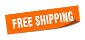 free shipping sticker. free shipping square isolated sign. free shipping