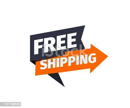 Free shipping vector icon Delivery pointer Sticker of cargo services