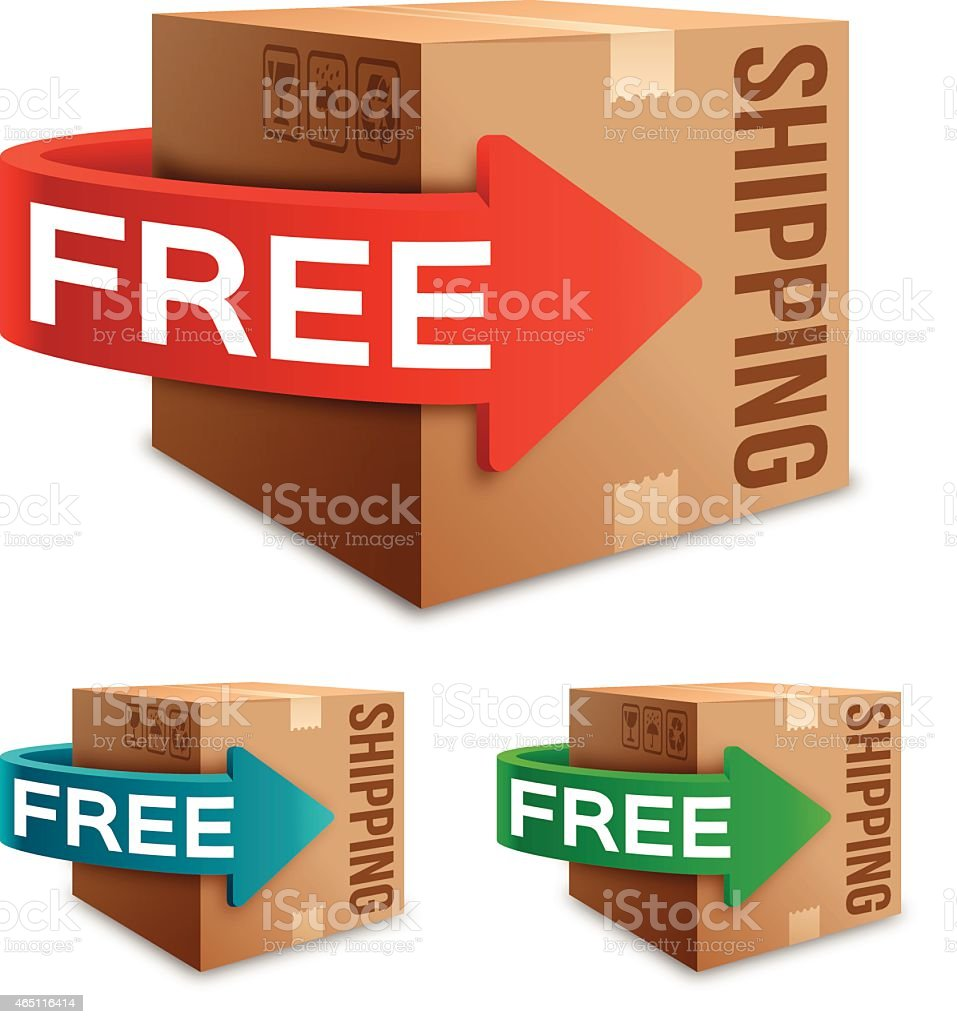 Free Shipping vector art illustration