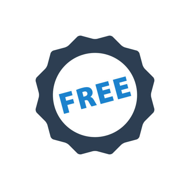 illustrations, cliparts, dessins animés et icônes de autocollant gratuit icon - gratuit