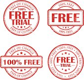 Free of charge stamps. Non-grunge versions are included in the layers. Can be removed easily.
