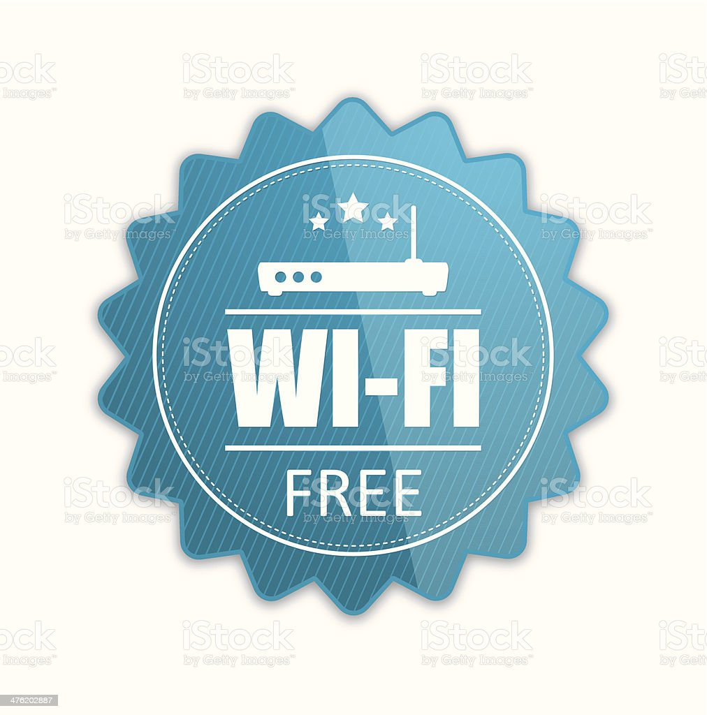 Free wifi badge royalty-free stock vector art