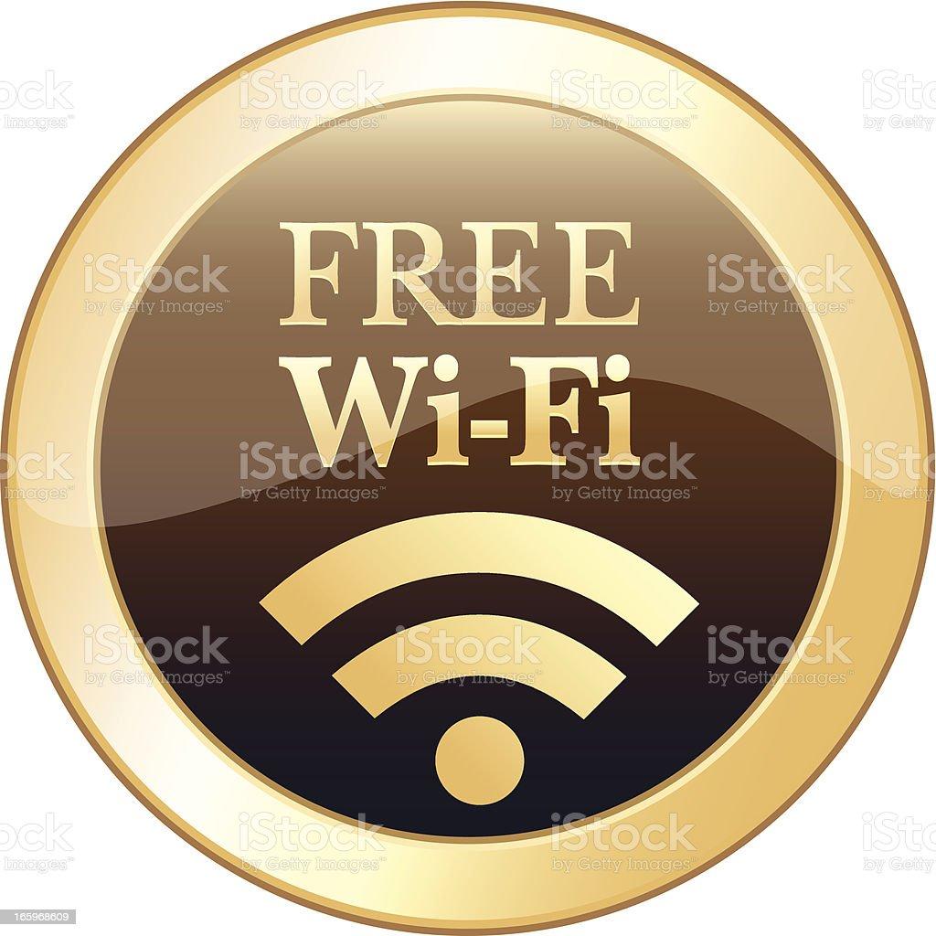 Free Wi-Fi Icon royalty-free stock vector art