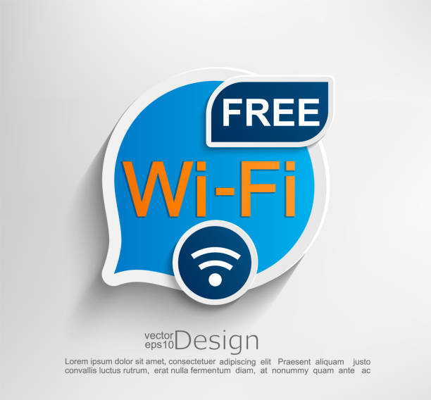 Free wifi symbol. Free wifi symbol, emblem or sticker vector illustration. freedom stock illustrations