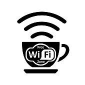 Free wifi zone – vector