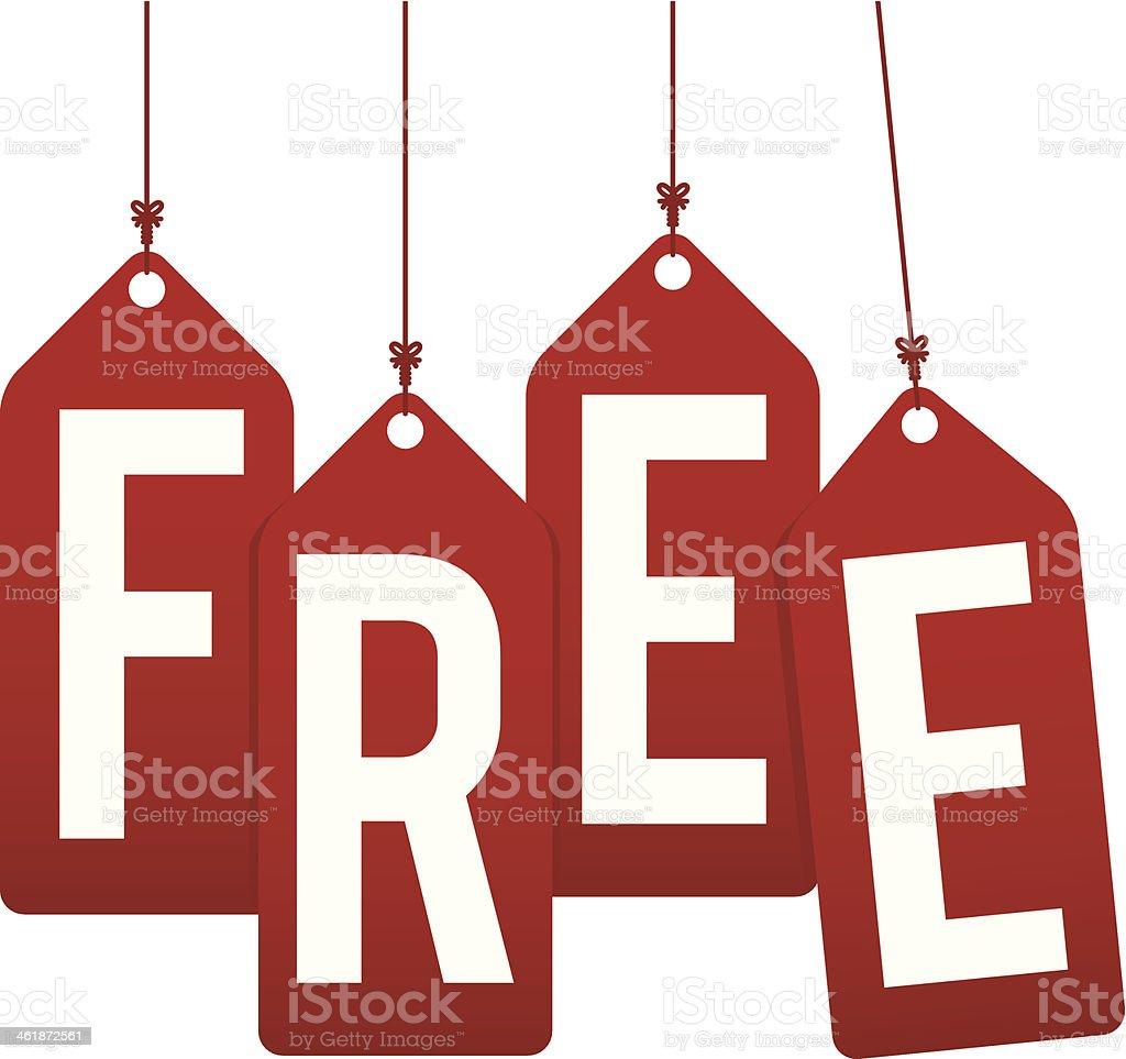 free wording gift tags vector art illustration