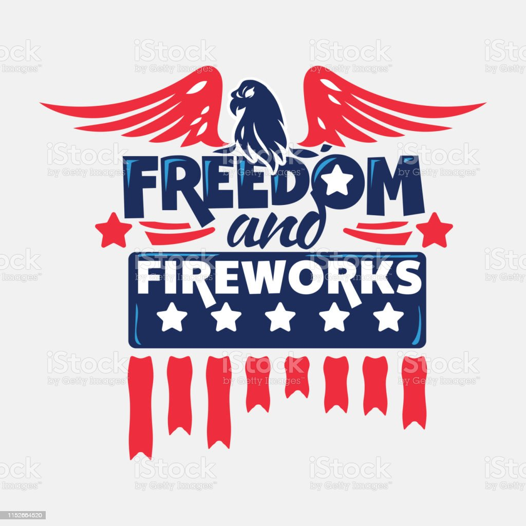 dom and fireworks phrase independence day labels and quotes