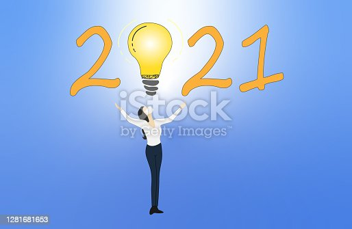 istock Freedom challenge concept in 2021. 1281681653