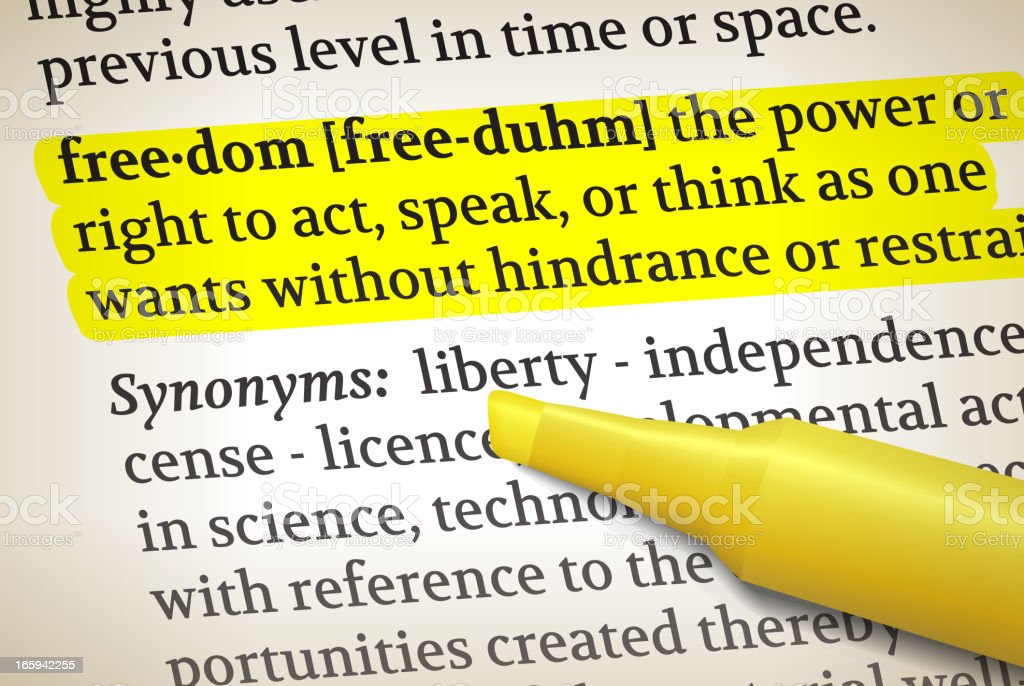 Freedom Dictionary Definition Royalty Free Vector Illustration Royalty Free  Freedom Dictionary Definition Royalty Free Vector
