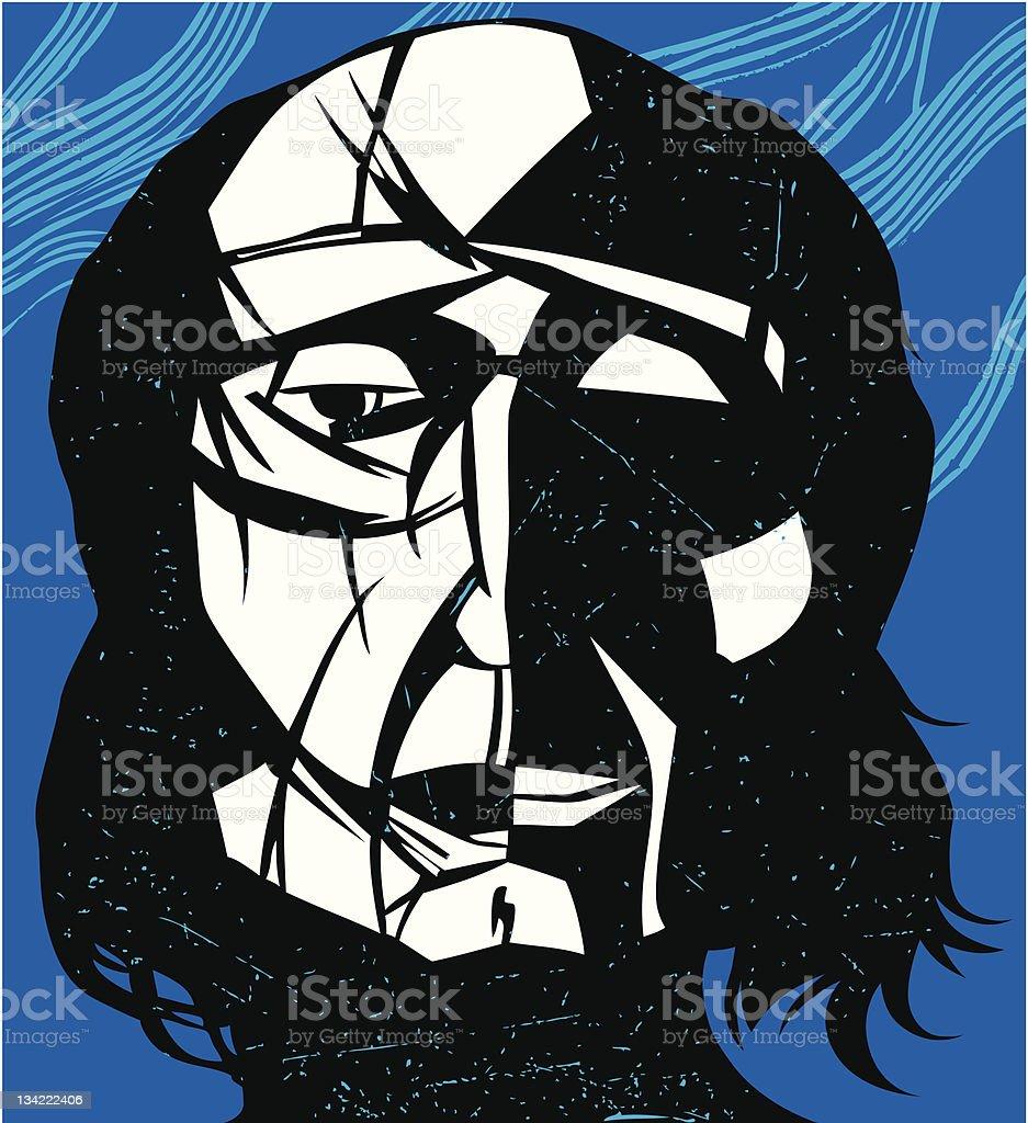Freedom face. vector art illustration
