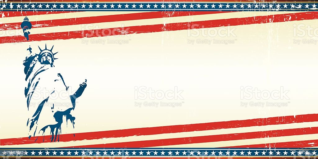 freedom greeting card vector art illustration