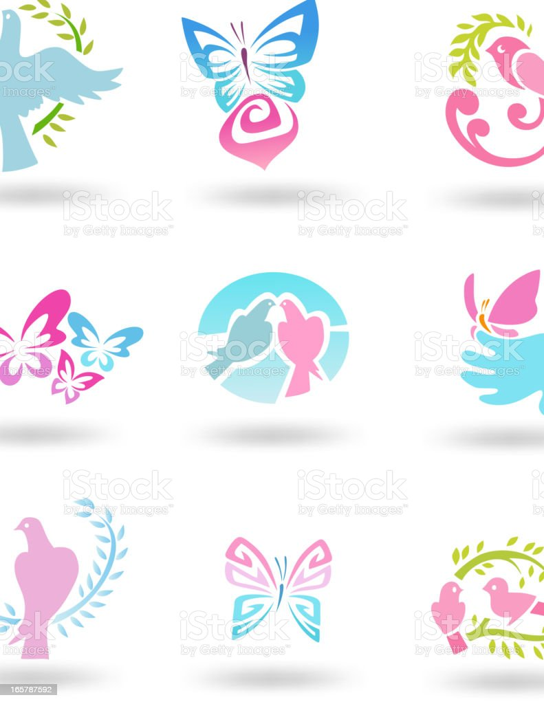 Freedom Icon set royalty-free stock vector art
