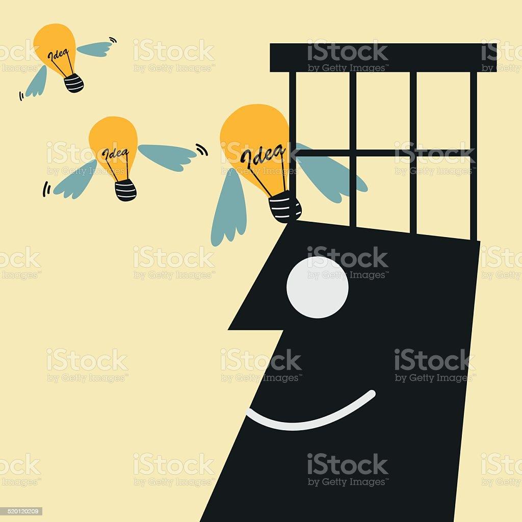 Freedom idea. idea concept vector art illustration