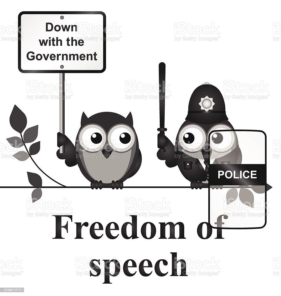 Freedom of Speech vector art illustration