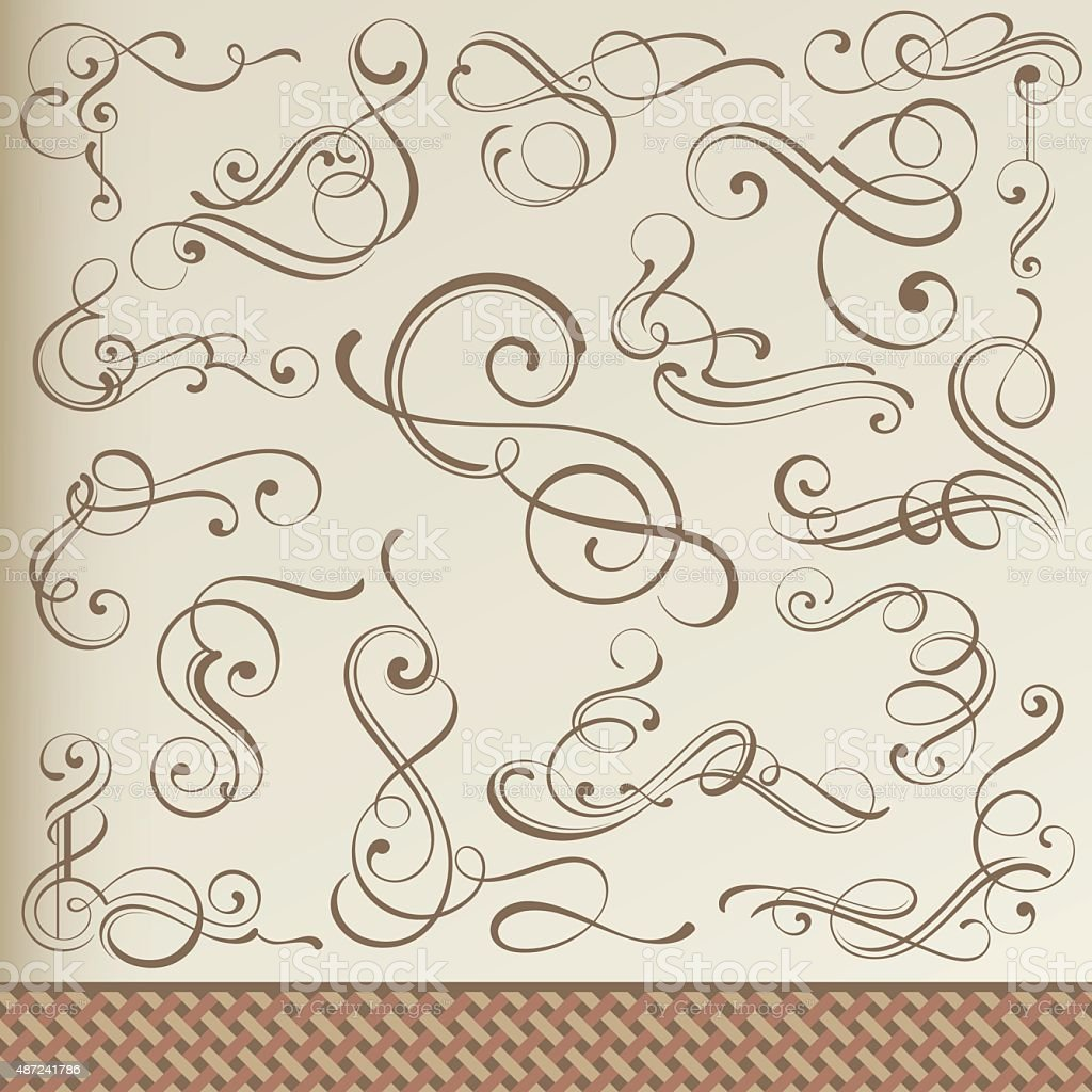 Freehand Curled Corners vector art illustration