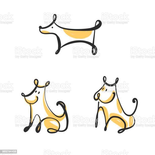 Freehand drawing image sit dog isolated on white background set of vector id889294458?b=1&k=6&m=889294458&s=612x612&h=kwsixyhnhoulbpcxftsosofl70svshqzi2oavdlsyiy=