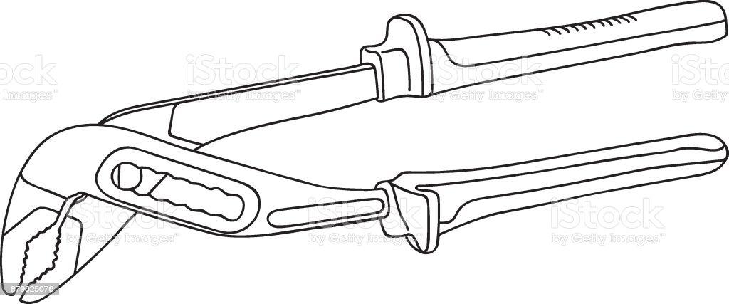 Pliers Coloring Page - Twisty Noodle | 427x1024