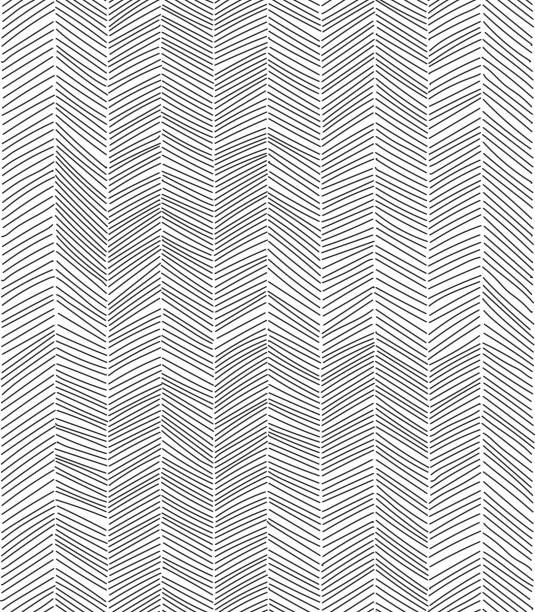 Freehand line pattern Freehand doodle seamless pattern. EPS10 vector illustration. black and white stock illustrations