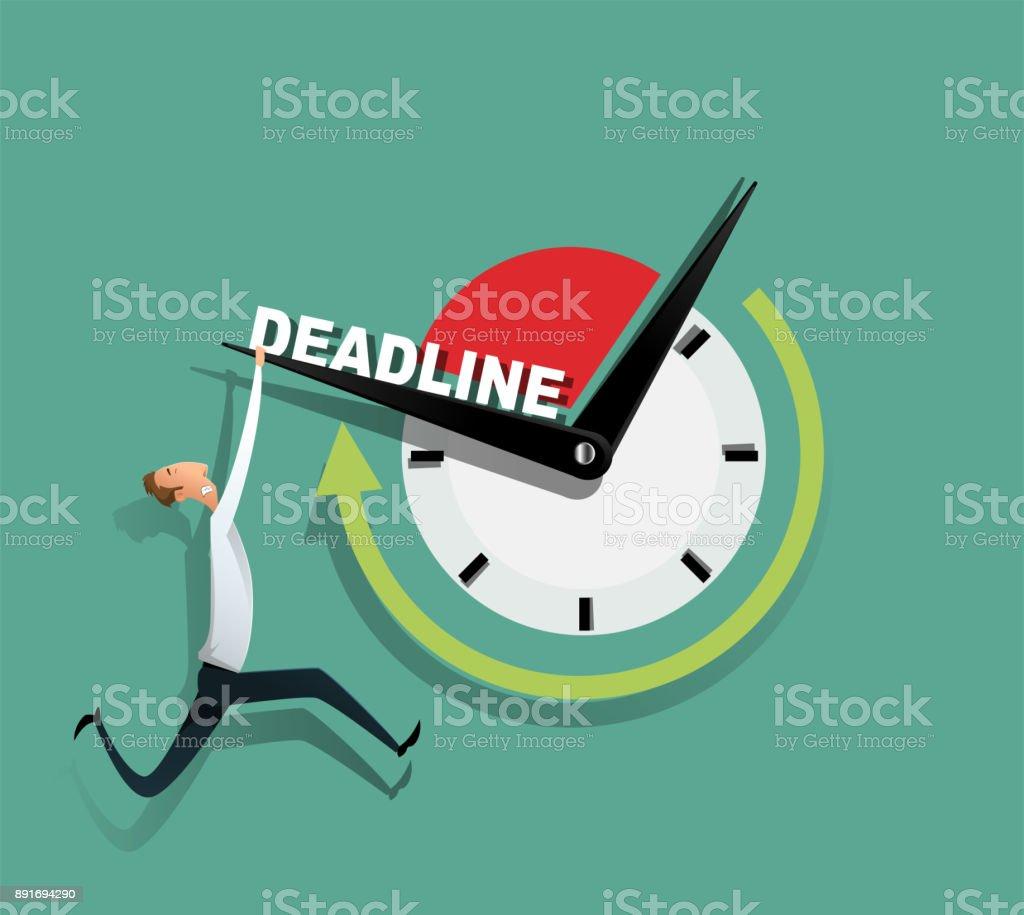 Freelance programmer struggling with the deadline. vector art illustration