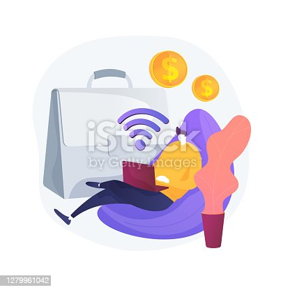 istock Freelance work abstract concept vector illustration. 1279961042