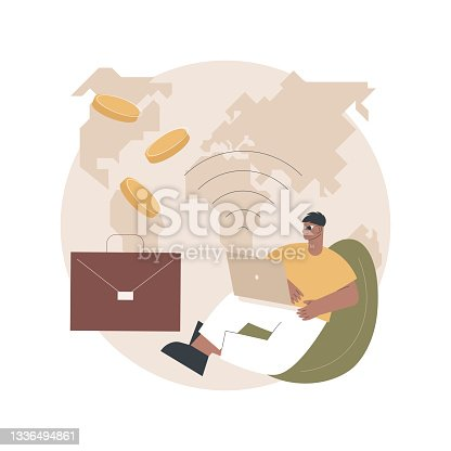 istock Freelance work abstract concept vector illustration. 1336494861