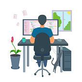 istock A freelancer programmer coding a program at home. 1191899737