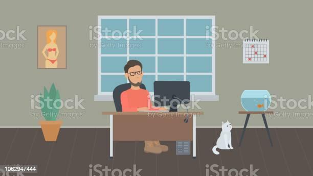 Freelancer works in a home office vector id1062947444?b=1&k=6&m=1062947444&s=612x612&h=b9n5vsoyo9qbkvvsxl0 dkcsfjg5tywpdp7w2lk2uec=
