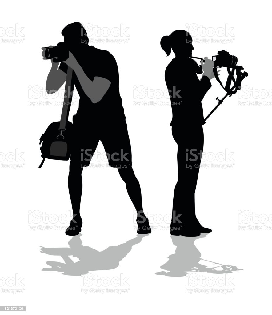 Freelancers And Photographers vector art illustration